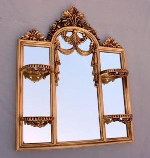 Wandspiegel Antik Rechteckig Gold Badspiegel Spiegelkonsole 60X46 Spiegel c510