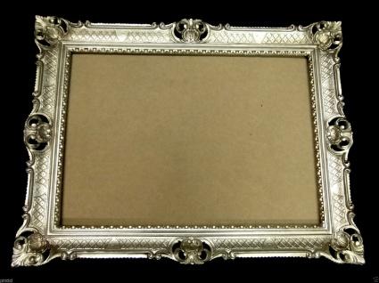 Bilderrahmen Barock Antik Altsilber 90x70 Gemälderahmen Spiegelrahmen Fotorahmen