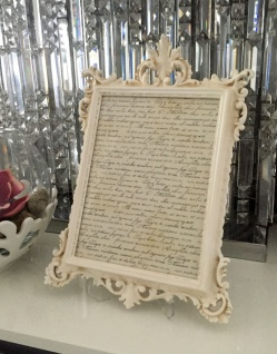 Bilderrahmen Antik Weiß Creme mit Schutzglas Barock 36x24 Fotorahmen Beige