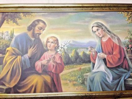 Heilige Gemälde Christliche Bild Maria Jesus Josef 77x42cm Krippe Weihnachtsbild