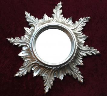 Wandspiegel Barock Antik Silber SPIEGEL SONNE 50cm Badspiegel Sun Mirror C495