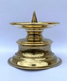 Kerzenleuchter 13 cm Messing Kerzenständer gold Antik Barock Stumpenkerzenhalter