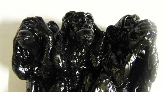 3 Affen figuren Dreiaffen14 x14x5 Kunststein Tiere nicht sehen hören sagen figur