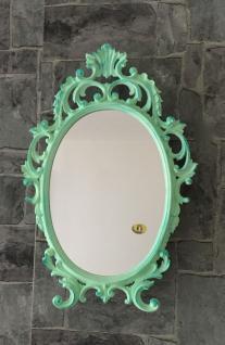 Wandspiegel Antik Grün Mint Oval 43x27 Schminkspiegel Bad-Friseurspiegel C531