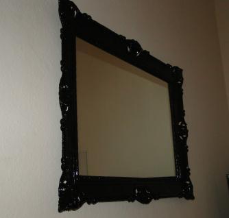 Wandspiegel 90x70 Spiegel BAROCK Badspiegel Rechteckig Antik REG 3057 Schwarz 1 - Vorschau 4