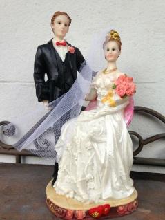 Hochzeitstorte Brautpaar Hochzeitspaar 21x10cm Cake Topper Tortenfigur Hochzeit
