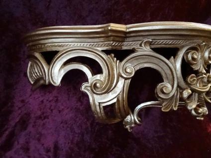 Regal Wandkonsole Gold BAROCK Spiegel KONSOLE 50x20x24 ANTIK ornamente C72 - Vorschau 3