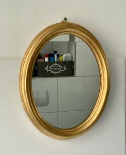 Wandspiegel Oval Gold Ovaler Badspiegel Gold 22cmx 17cm Shabby Barock Antik
