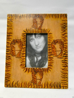 Bilderrahmen HOLZ Mango 30x25 Tiermotiv 10x15 Ausstellungsstück Fotorahmen