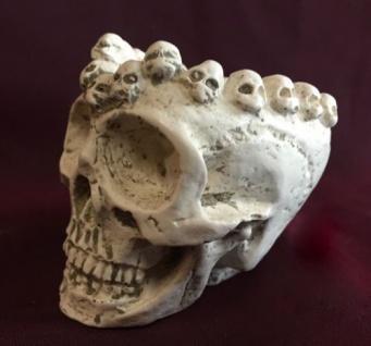 Totenkopf schädel Aschenbecher Natur 10x7 Skull Gothic Fantasy Figur Deko Skull - Vorschau 3