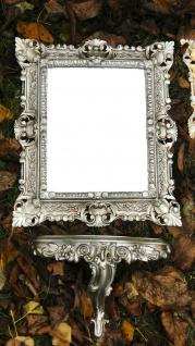 Wandspiegel mit Konsole Antik SILBER Medium Spiegelablage 45 X 37 BAROCK l