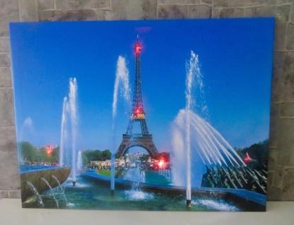 LED Bild mit Beleuchtung Leinwand Paris eiffelturm Wandbild Leuchtbild 60x80 - Vorschau 4