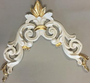 Wanddeko Wandbehang Deko 28cm Altweiß-Gold Spiegel Deko C1536 Ivory Möbeldeko - Vorschau 4