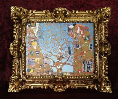 Bild mit Rahmen Barock Das Lebensbaum von Klimt 45X38 Tree of Life Gemälde
