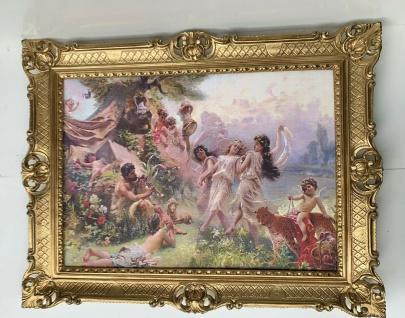 Gerahmte Gemälde Happy Arcadia by Konstantin Makovsky Bild mit Barock Rahmen