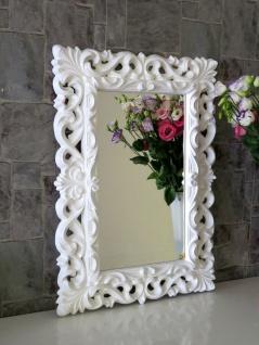 Wandspiegel Weiß Barock Modern Flurspiegel Friseurspiegel 72x52 Spiegel rechteck