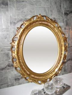 Wandspiegel Shabby GOLD ANTIK badSpiegel 58x68 BAROCK Oval Neu Antik 3