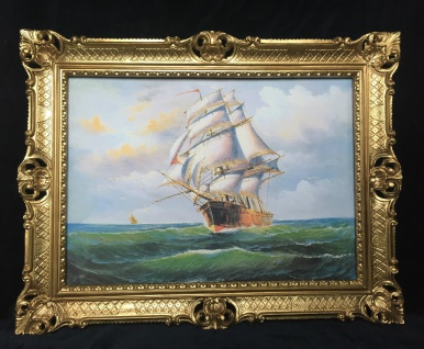 Gemälde Segelschiff Meer Schiffsbilder Seestück Maritime Bilder Schiffe 90x70