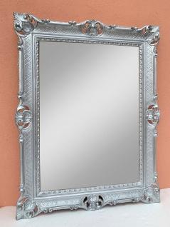 Wandspiegel Silber Barock Rechteckig Spiegel Antik WANDDEKO 90x70cm Badspiegel