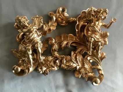 Wandhänger Engel Gold Wanddeko 35x28 Schlüsselbrett Schlüsselhalter Antik 404