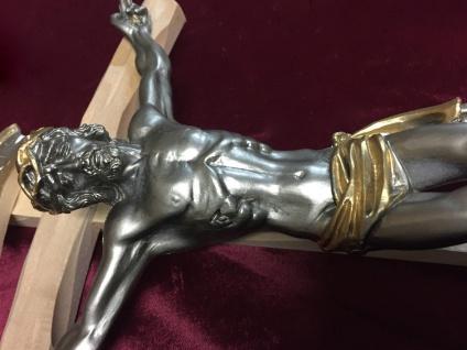 Wandkreuz 28x15 Holzkreuz Jesuskreuz Jesus Christus Kreuz Kruzefix Altar SCC2