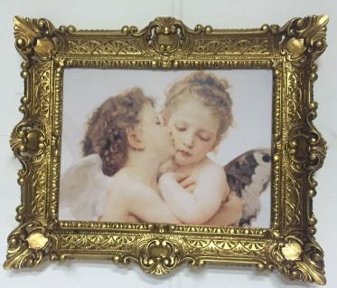 Wandbild küssende Engel 56x46 Schutzengel Gemälde Engelspaar Engelsbaby