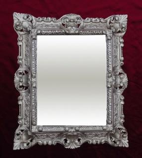 Bilderrahmen Barock Antik Silber mit Glas 45x38 Rechteckig Fotorahmen Jugendstil