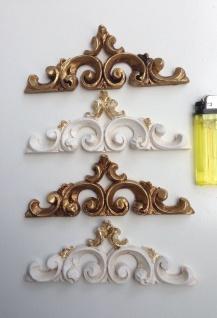 Wandrelief Weiß Gold Wanddeko Barock Relief 16x6 Antik Türbogen Wandbehang Deko
