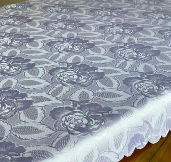 Tischdecke Stoff Oval Rechteckig Rund Damast Tischwäsche Bügelfrei Angebot