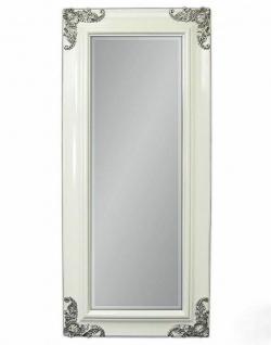 Wandspiegel weiß-Silber 180x80 Friseurspiegel Flur Spiegel Groß Modern Antik