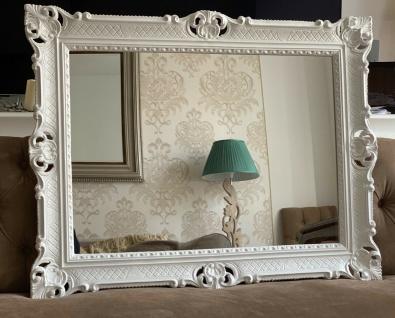 Wandspiegel Weiß Antik Barock Großer Spiegel 90x70 Badspiegel Badspiegel - Vorschau 2