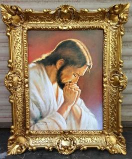 Jesus Bild Jesus Christus religiöse Bild 56x46 Heilige Kunstdruck Bild Wandbild