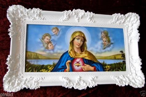 MARIA Gerahmte Gemälde Maria 96x57 Mutter Gottes Heilige Christliche Bilder