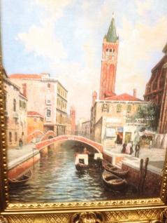 Venedig Bild Gemälde Ohne Rahmen 50x70 Venedig Brücke Kunstdruck MDF Rückwand
