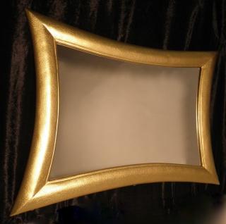 Wandspiegel Gold Modern Flurspiegel Friseurspiegel 115x85 XXl Spiegel