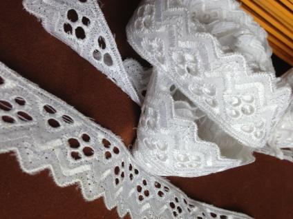 9 METER Spitzenborte Weiß band 3 cm Baumwolle Spitze Kissen Stickerei Madeira - Vorschau 4