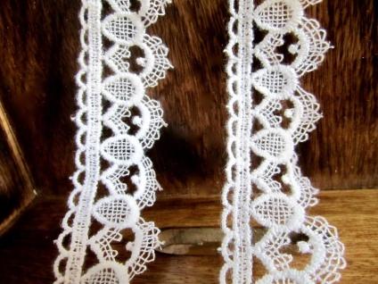 10 Meter Spitze Spitzenband 40mm Weiß guipure Borte Spitzenborte Baumwolle - Vorschau 2