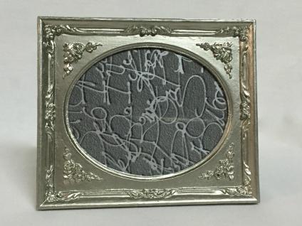 Bilderrahmen Antik Silber Oval Rechteckig 13x12 Barockrahmen Fotorahmen C8G-P