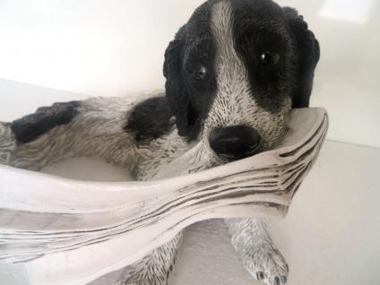Hunde Figuren Jagdhund Labrador Bx35 x T30 x H25 Lebensecht Tierfigur Deko ITALY