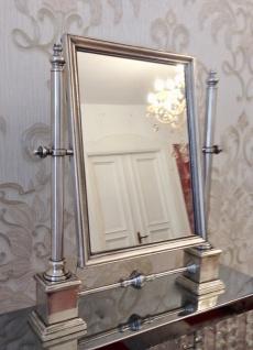 Luxus Standspiegel ANTIK VERSILBERTES MESSING Schminkspiegel Kippspiegel