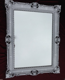Bilderrahmen Silber REPRO 90x70 Gemälderahmen Barock Fotorahmen Spiegelrahmen