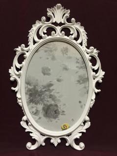 Bilderrahmen Barock Weiß Oval 43x27 Bilderrahmen Antik Fotorahmen C531 Photo - Vorschau 1
