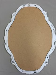 Wandspiegel Weiß Silber Spiegel Antik Wanddeko Badspiegel Shabby Barock C26SV - Vorschau 3