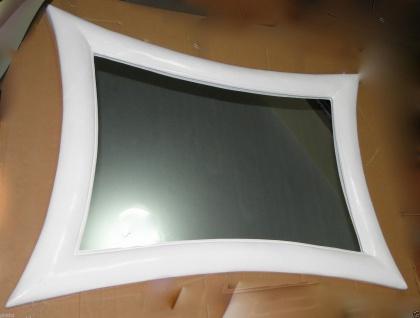 Wandspiegel Spiegel Modern Weiss115x85 Holzrahmen Retro Flurspiegel 023b - Vorschau 2