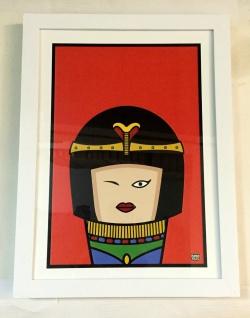 Human Tales Cleopatra Bild mit Rahmen Ägypten bild zeichentrick Pop art Bilder