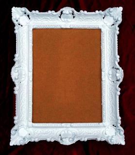 Bilderrahmen Weiß Barock Shabby 57x47 Fotorahmen 30x40 Bilderrahmen mit Glas