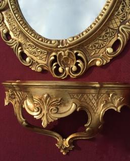Wandspiegel mit Konsole Gold Barock Antik 45x37 Badspiegel Ablage