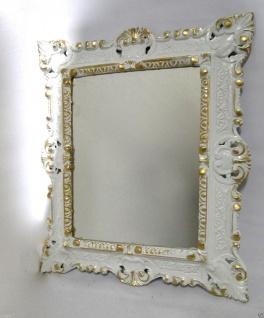 Set Wandspiegel+Wandkonsole Weiß-Gold Barock 45x37 Spiegel mit Konsole Ablage - Vorschau 3