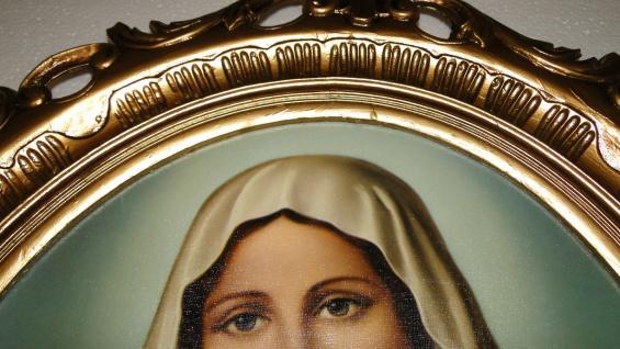 Bild mit Rahmen Heiligenbilder Gemälde Heilige Maria Mutter Gottes 58X68 Madonna - Vorschau 4