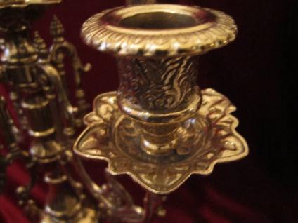 Messing KerzenstÄnder 41cm Barock Massiv Kerzenhalter Deko Gold 5 Armig Antik - Vorschau 2